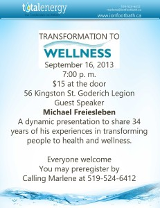 Transformation to Wellness